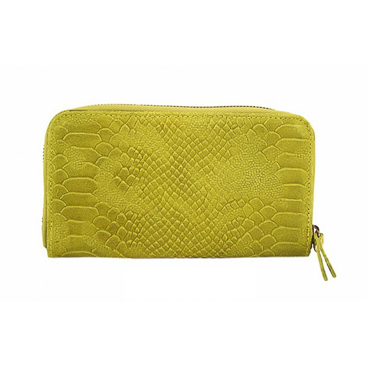 Woman genuine leather wallet 595 yellow