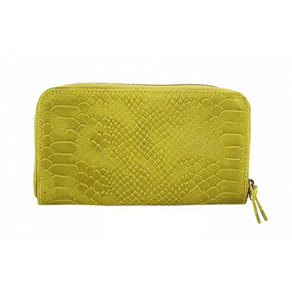 Kožená peňaženka 595 žltá Žltá
