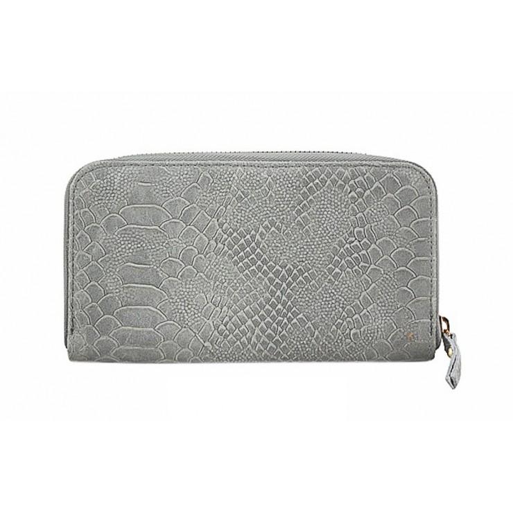 Kožená peňaženka 820A šedá