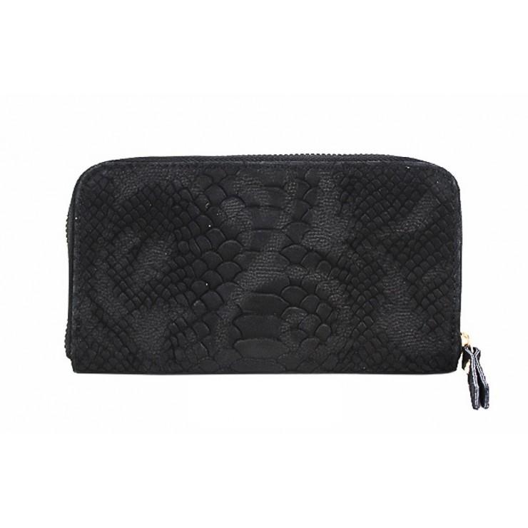 Kožená peňaženka 820A čierna