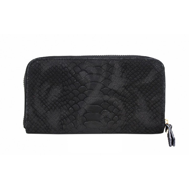 Woman genuine leather wallet 595 black