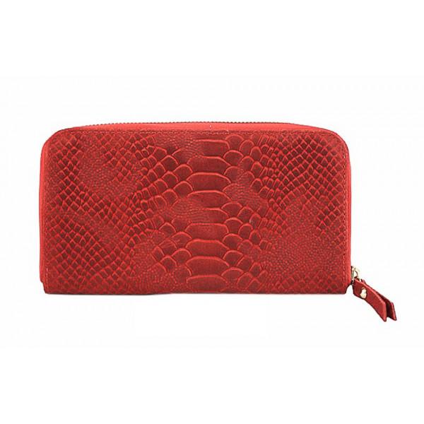 Kožená peňaženka 595 červená Made in Italy Červená