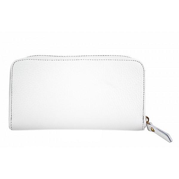 Kožená peňaženka 820B biela Biela