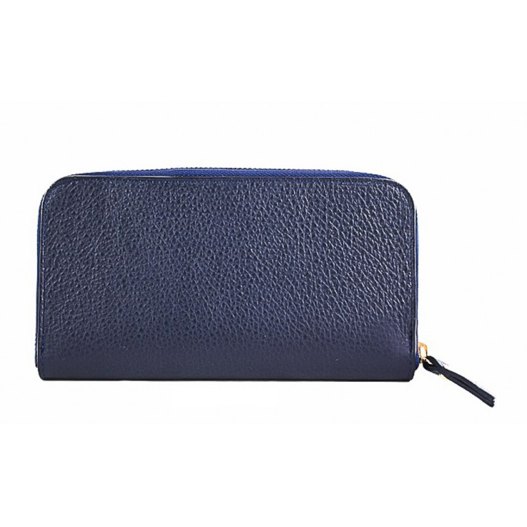 Woman genuine leather wallet 820B blue
