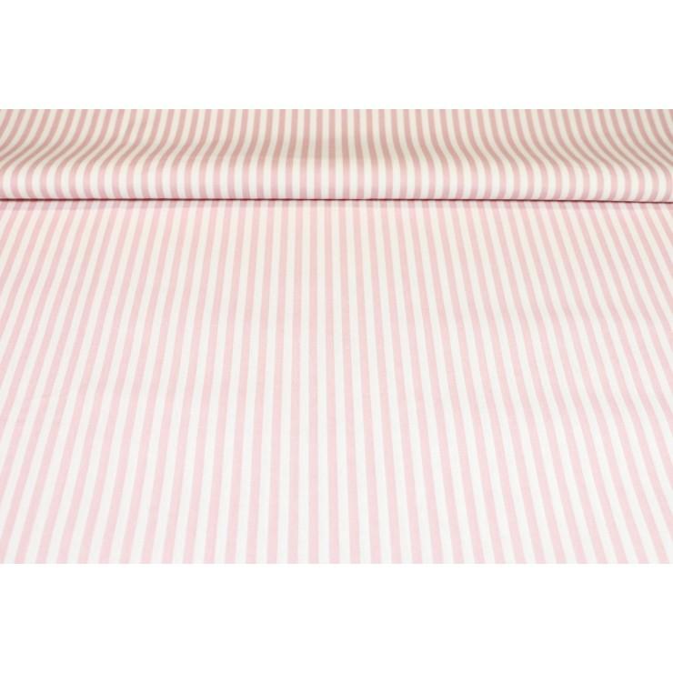 Cotton fabric Pink Strip, h. 145 cm