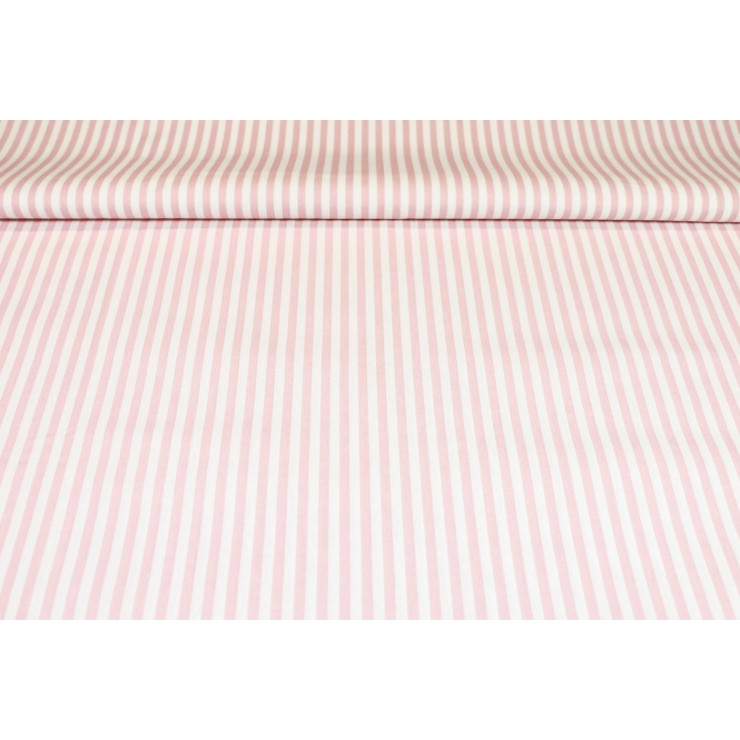 Cotton fabric Pink Strip, h. 290 cm