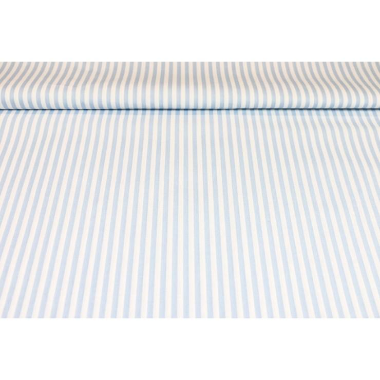 Cotton fabric Blue Strip, h. 145 cm