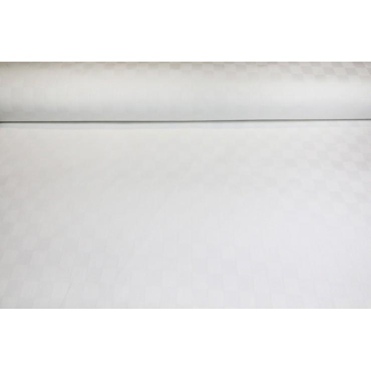 Dekoračná látka Bavlna Biele kocky, š. 140 cm
