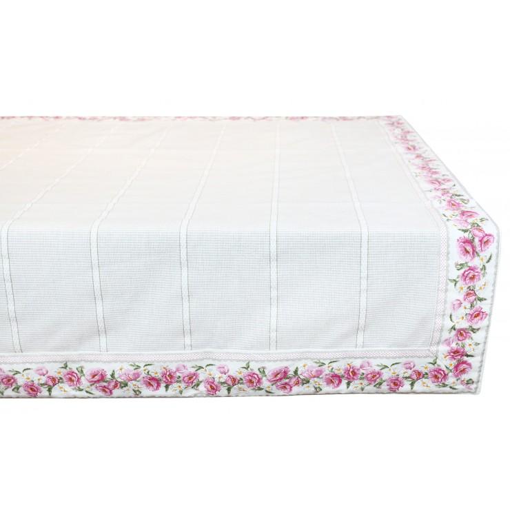 Bavlnený obrus ružové kvety 90x90 cm