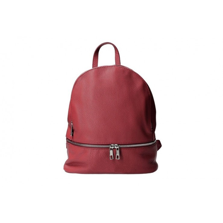Leather backpack MI1084 red Made in Italy
