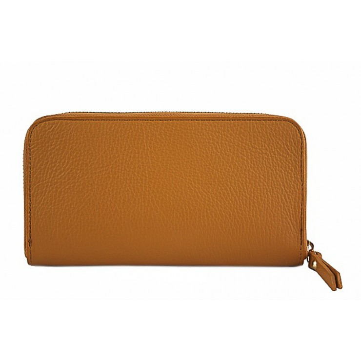 Woman genuine leather wallet 820B cognac