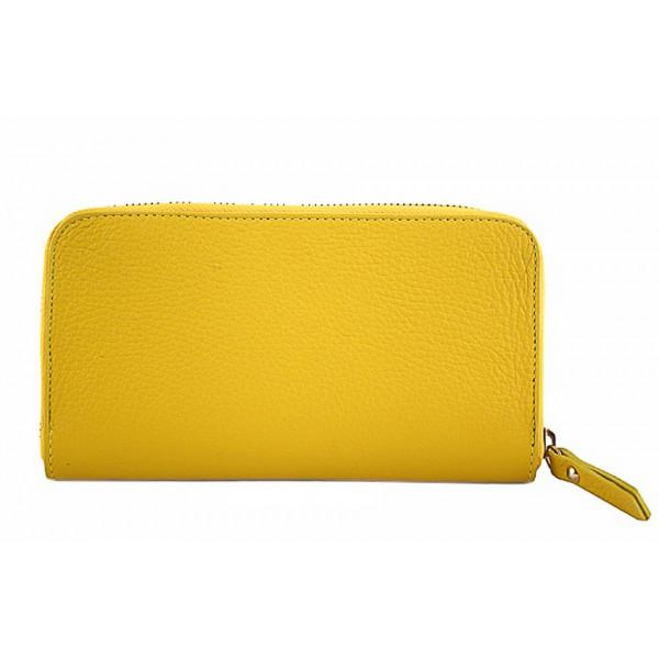 Kožená peňaženka 820B žltá Žltá