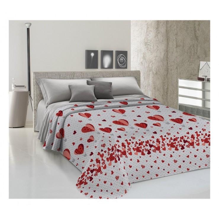 Prikrývka na posteľ Piquet Balóny červené