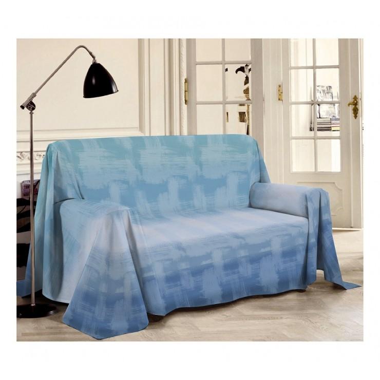 Víceúčelová přikrývka Piquet Duha modrá