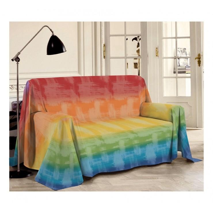 Multi-purpose plaid Piquet Rainbow multicolor