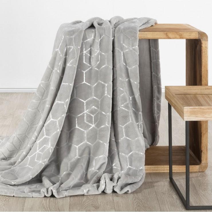 Microfiber blanket Mosaic gray