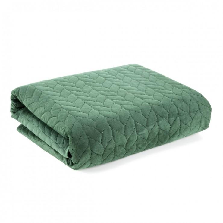Velvet blanket for armchair Luiz1 dark green