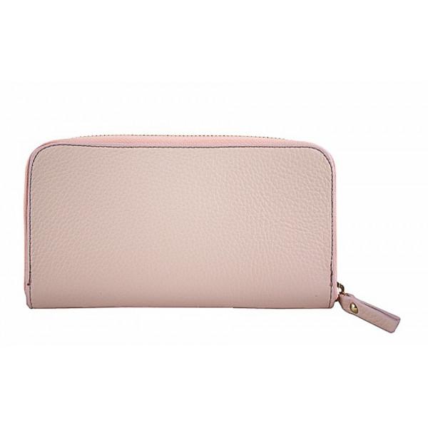Kožená peňaženka 820B ružová Ružová
