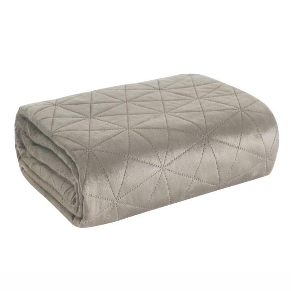 Velvet blanket for armchair Luiz beige+cream