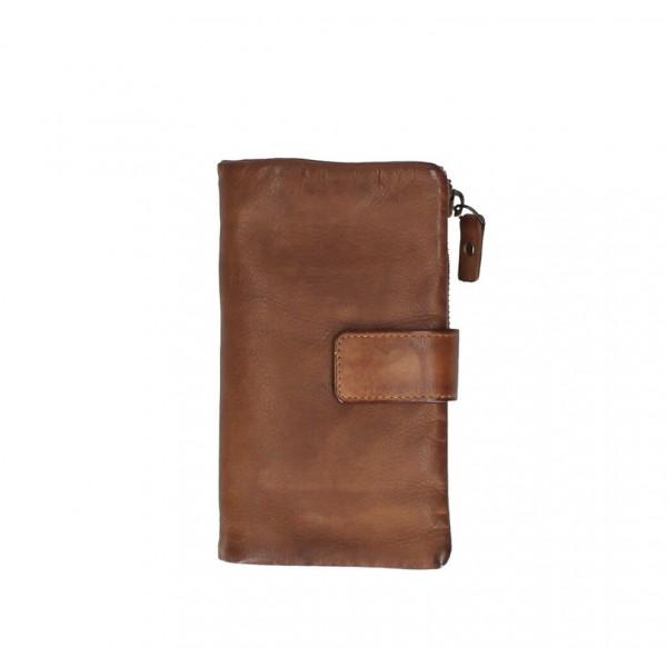 Dámska kožená peňaženka 725 hnedá Hnedá