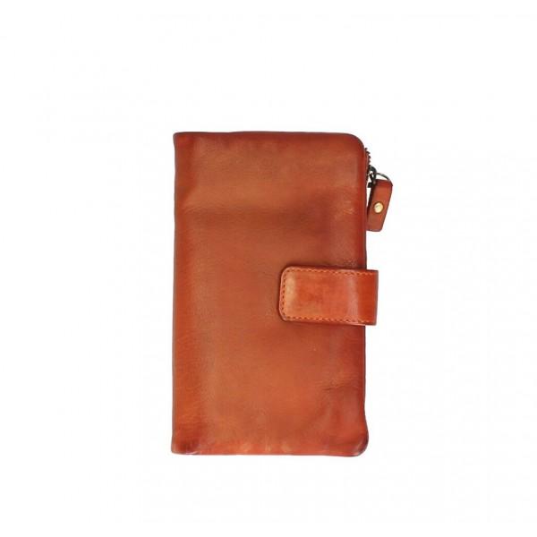 Dámska kožená peňaženka 725 oranžová Oranžová