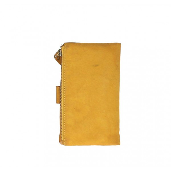 Dámska kožená peňaženka 725 okrová Okrová