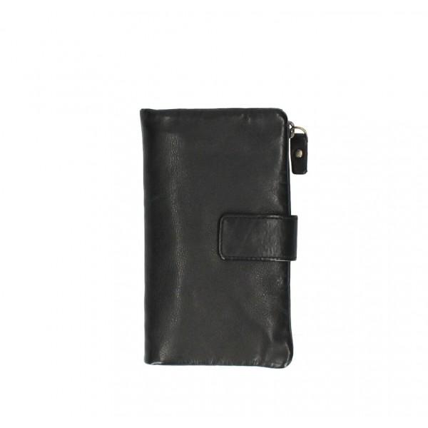 Dámska kožená peňaženka 725 čierna Čierna