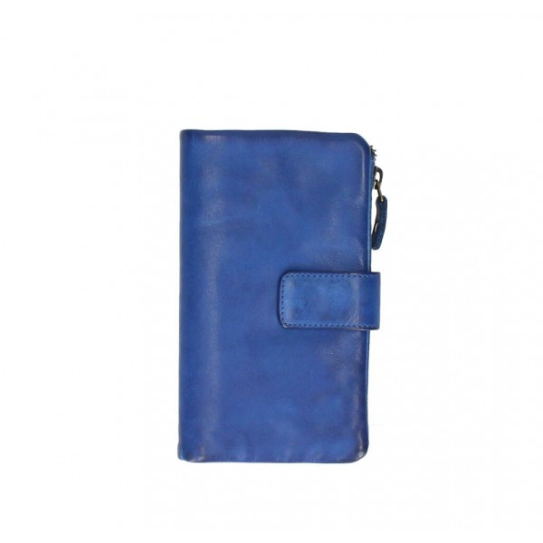Dámska kožená peňaženka 725 azurovo modrá Modrá