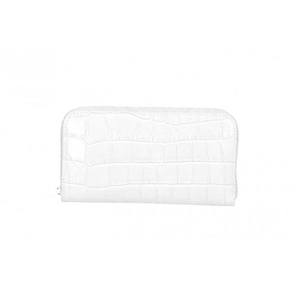 Kožená peňaženka 820C biela Biela