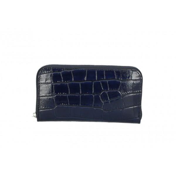 Kožená peňaženka 820C tmavomodrá Modrá