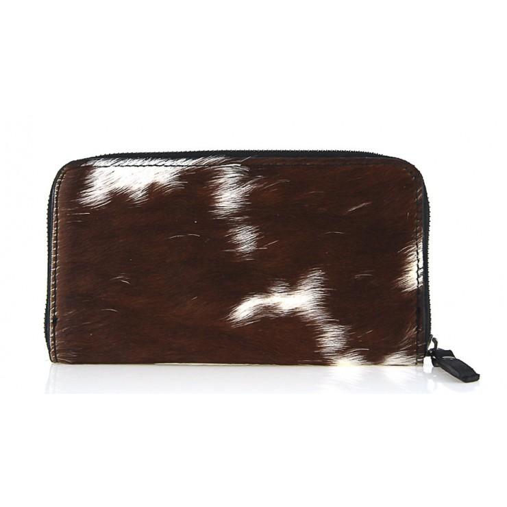 Kožená peňaženka na zips 509 hnedá