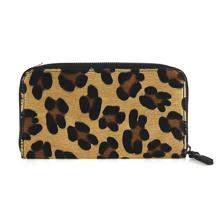 Kožená peňaženka na zips 509 leopard
