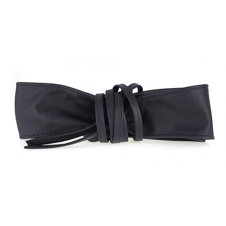 Genuine Leather sash belt 839 blue