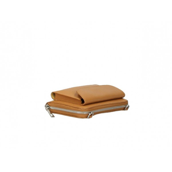 Kožená peňaženka s púzdrom na mobil čierna Čierna