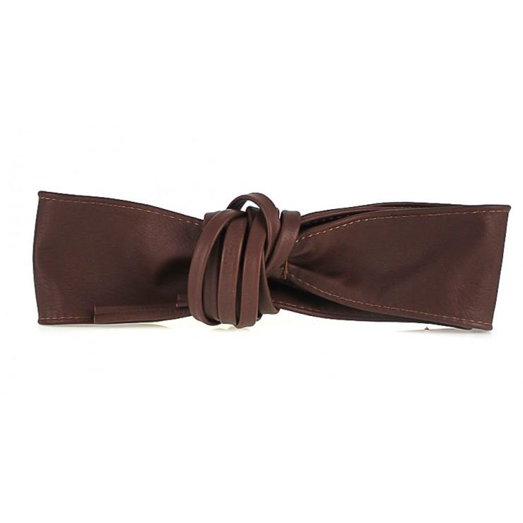 Genuine Leather sash belt 839 brown