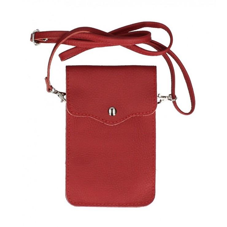 Kožené púzdro na mobil MI895 červené Made in Italy