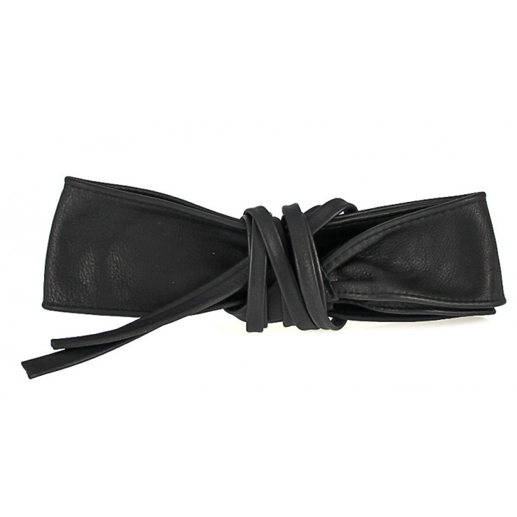 Genuine Leather sash belt 839 black