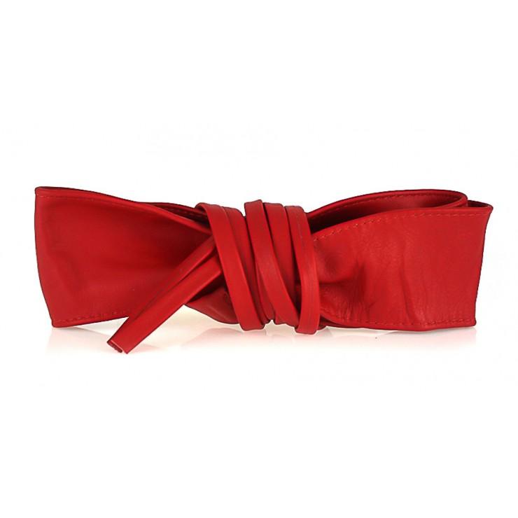Genuine Leather sash belt 839 red