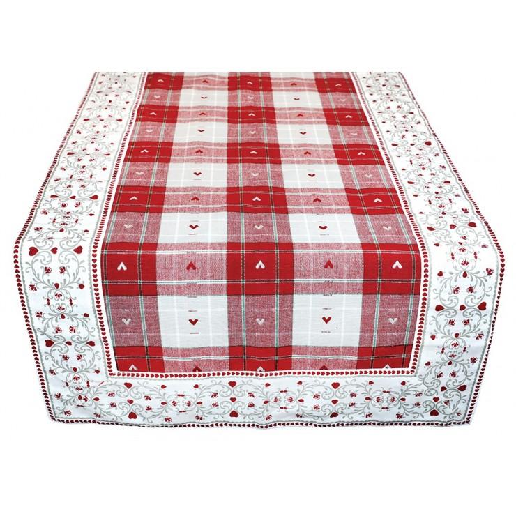 Behúň na stôl srdiečka 45x150 cm