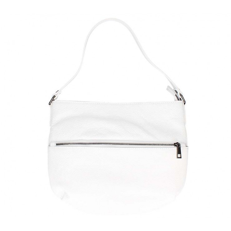 Leather shoulder bag 5311 white