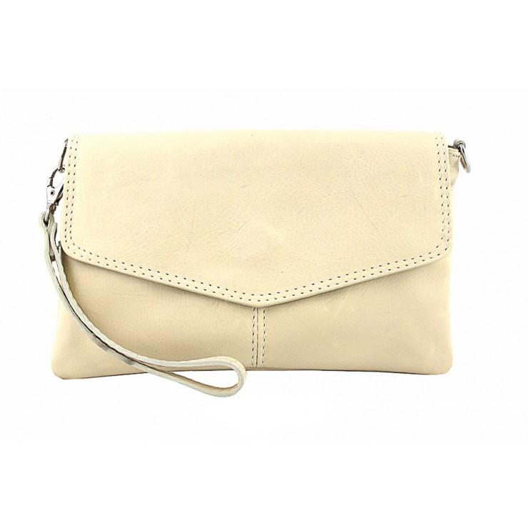 Genuine Leather Handbag 798 beige