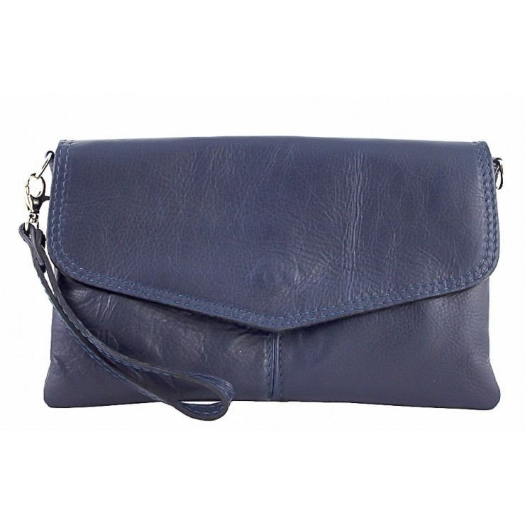Genuine Leather Handbag 798 blue