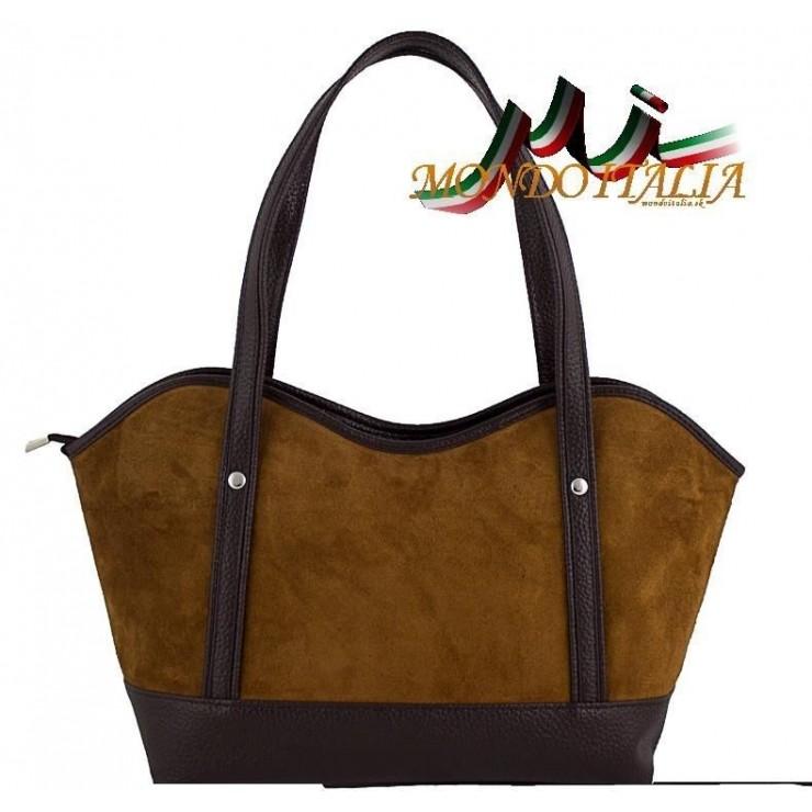 Dámska kabelka 1027 koňak Made in Italy
