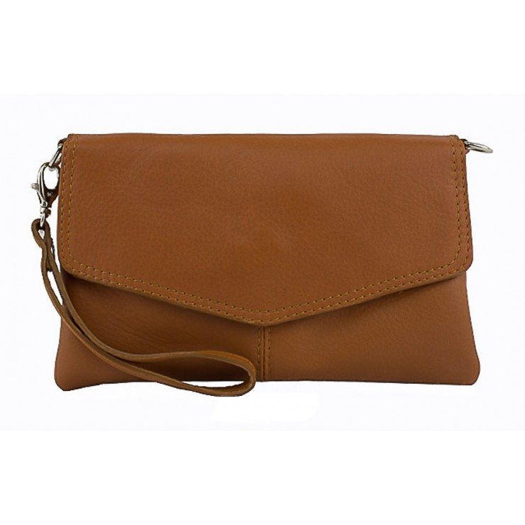 Genuine Leather Handbag 798 cognac