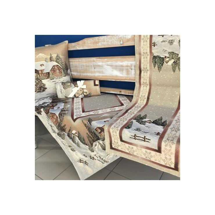 Gobelinový behúň na stôl 40x100 cm Eden 740B so zlatou niťou
