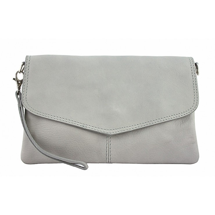 Genuine Leather Handbag 798 gray