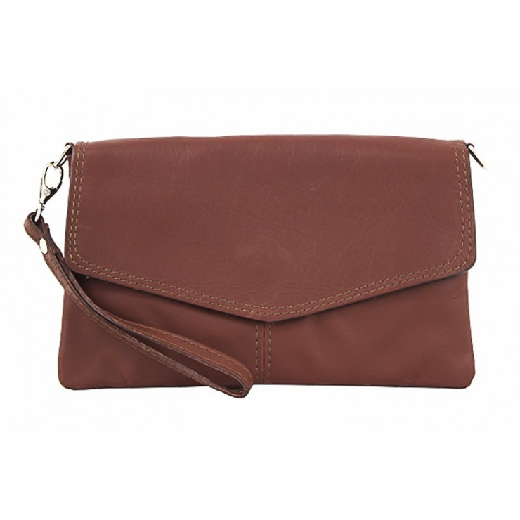 Genuine Leather Handbag 798 brown