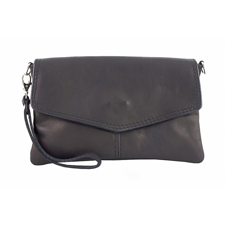 Genuine Leather Handbag 798 black