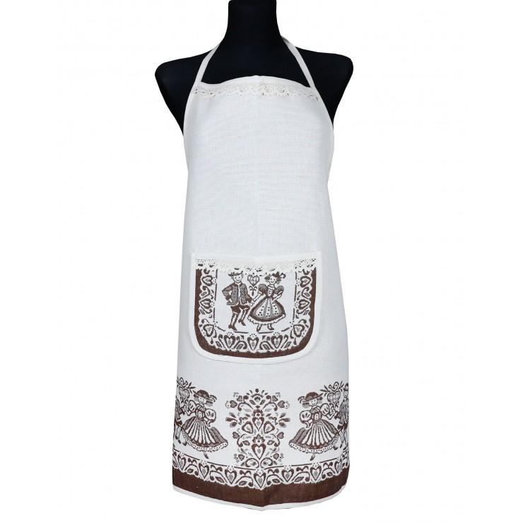Linen apron A005