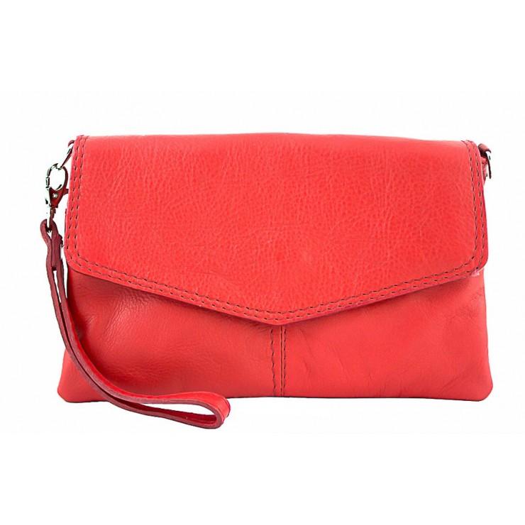 Genuine Leather Handbag 798 red